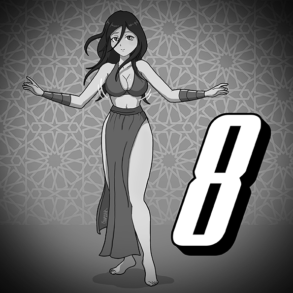 No. 8 Belly dancer