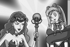 No. 18 Sailor Moon and Queen Beryl