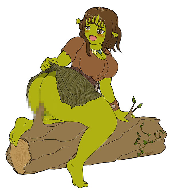 Ogress in a tree stump