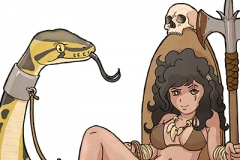 The Monster Huntress and her pet
